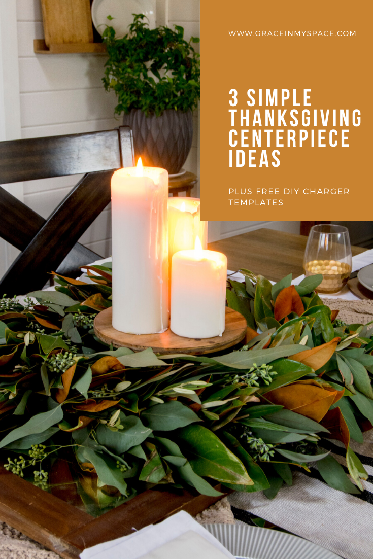 Are you looking for easy and inexpensive Thanksgiving centerpiece ideas? Here are 3 ways to use your existing fall decor as a centerpiece this Thanksgiving.