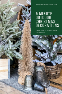 5 Minute Outdoor Christmas Decorations.