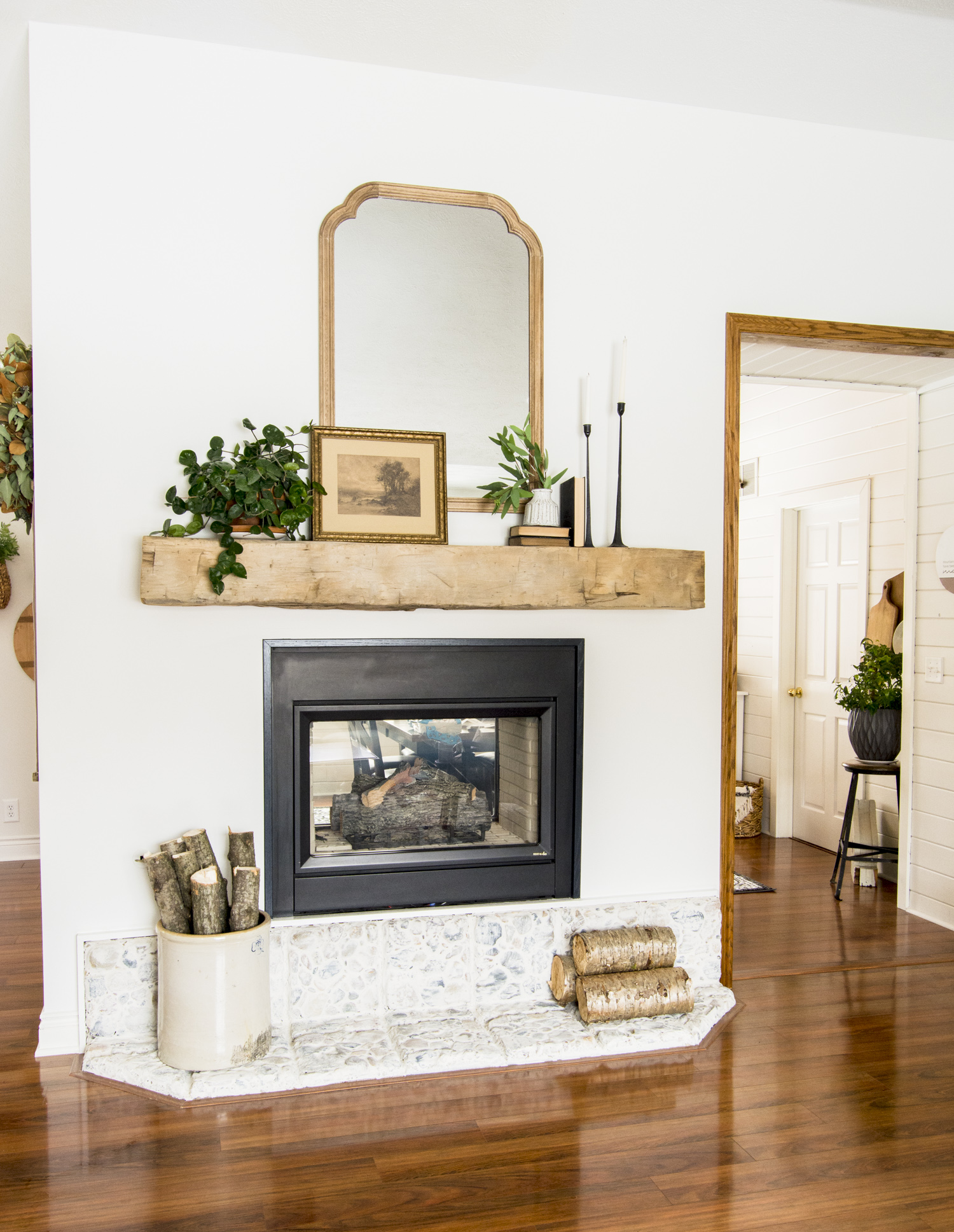 How to Install a Barn Beam Mantel.