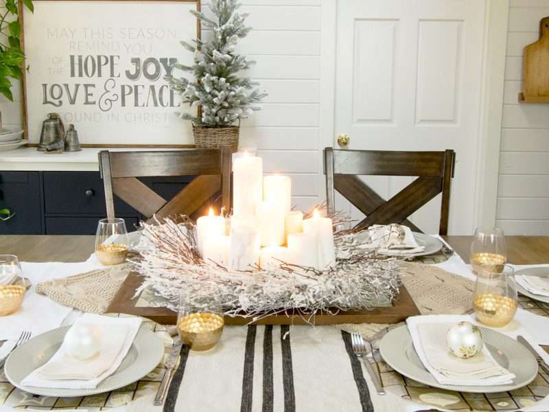 Elegant Christmas Tablescape Design