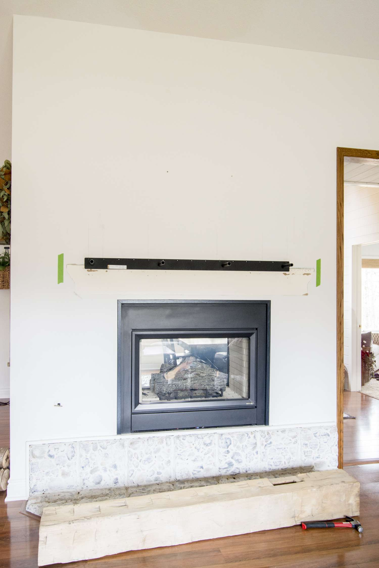 Mantel Bracket Installation.