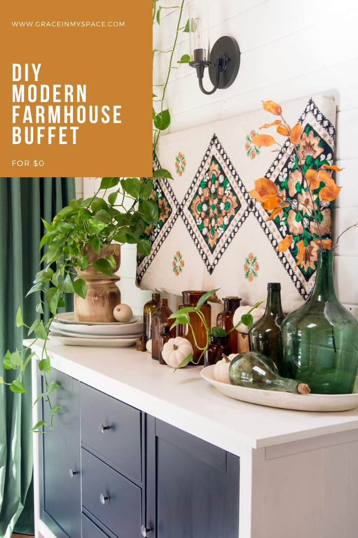 What do you do when your decor style changes? You use the power of paint! I'm sharing how I transformed a farmhouse buffet into a modern sideboard.
