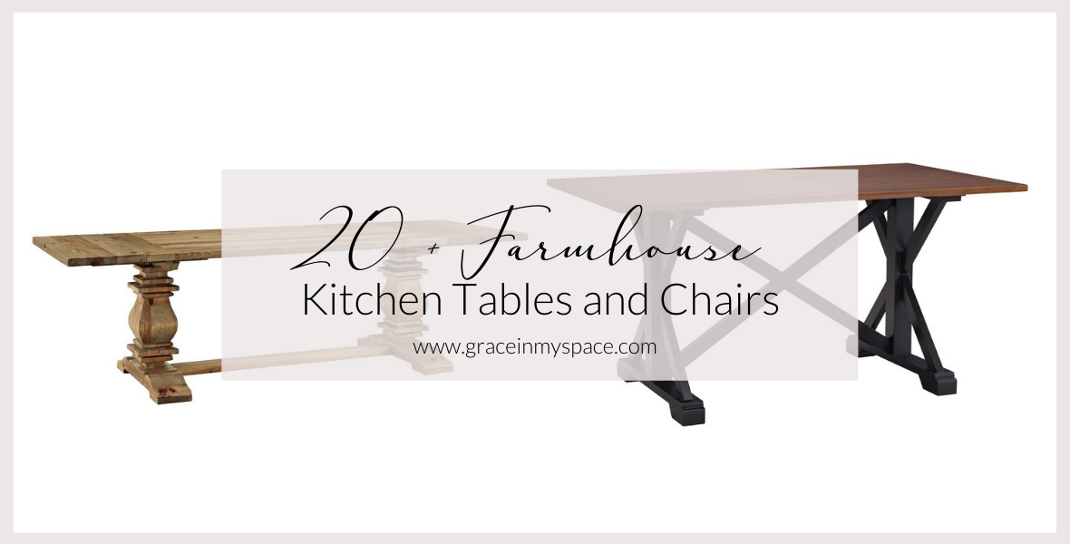 Are you looking for farmhouse kitchen table sets to add style and function to your home? I've rounded up over 20 farmhouse dining room sets to choose from!