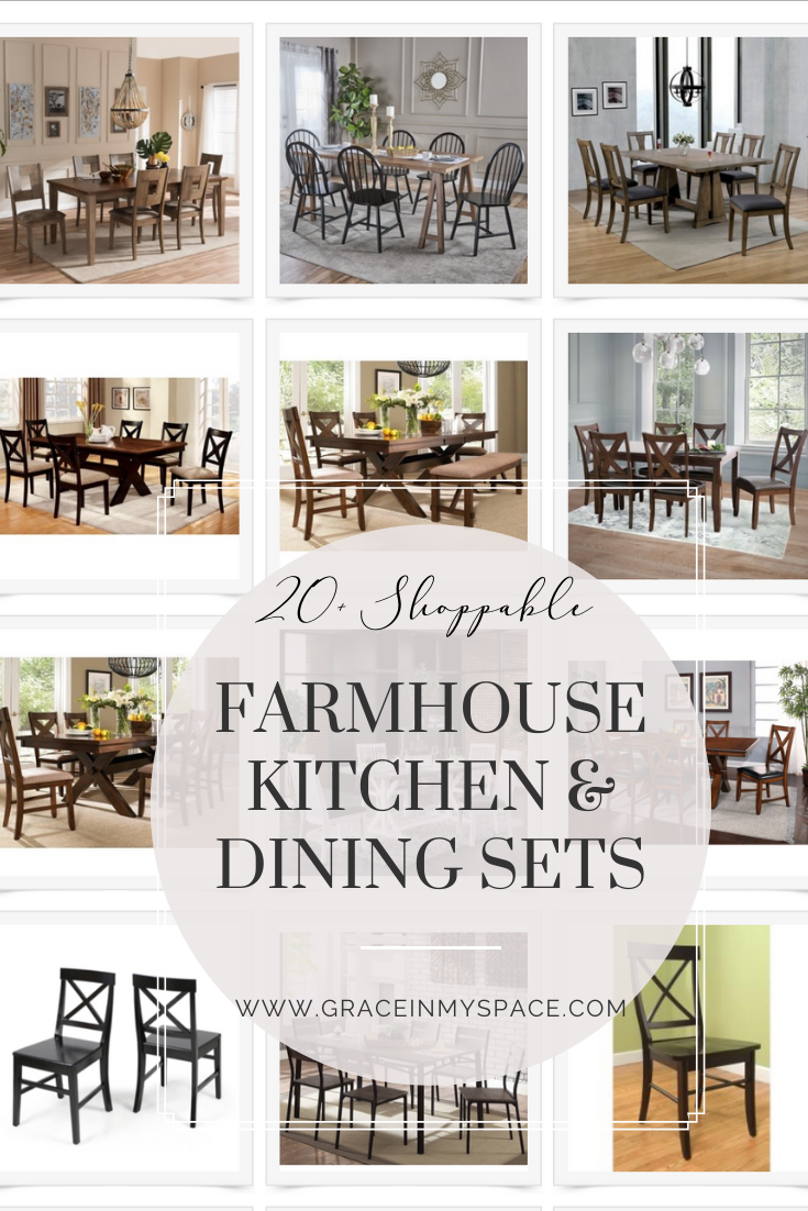 20+ Farmhouse Kitchen Table Sets for Any Budget | Grace In ...