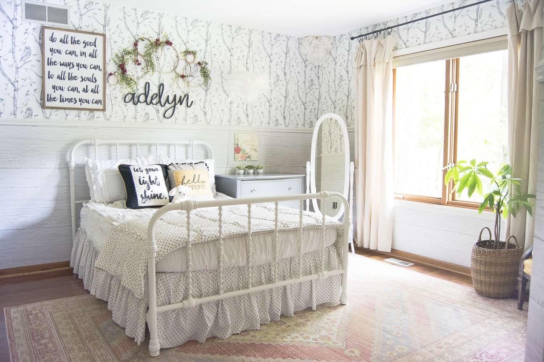 Girl's bedroom area rug.