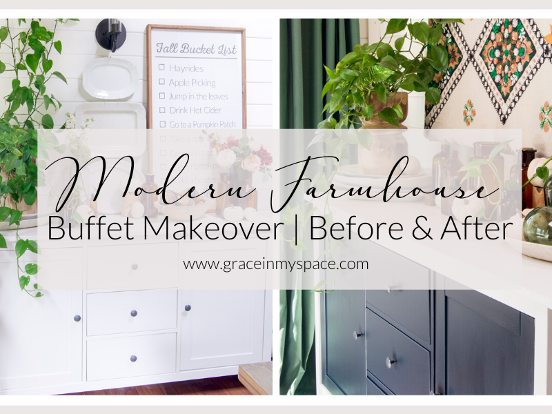 DIY Modern Farmhouse Buffet