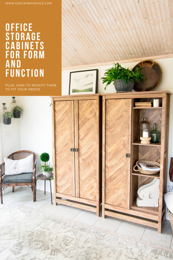 Is your work space chaotic? Today I'm sharing beautiful office storage cabinets that offer both form and function to get your office beautifully organized.