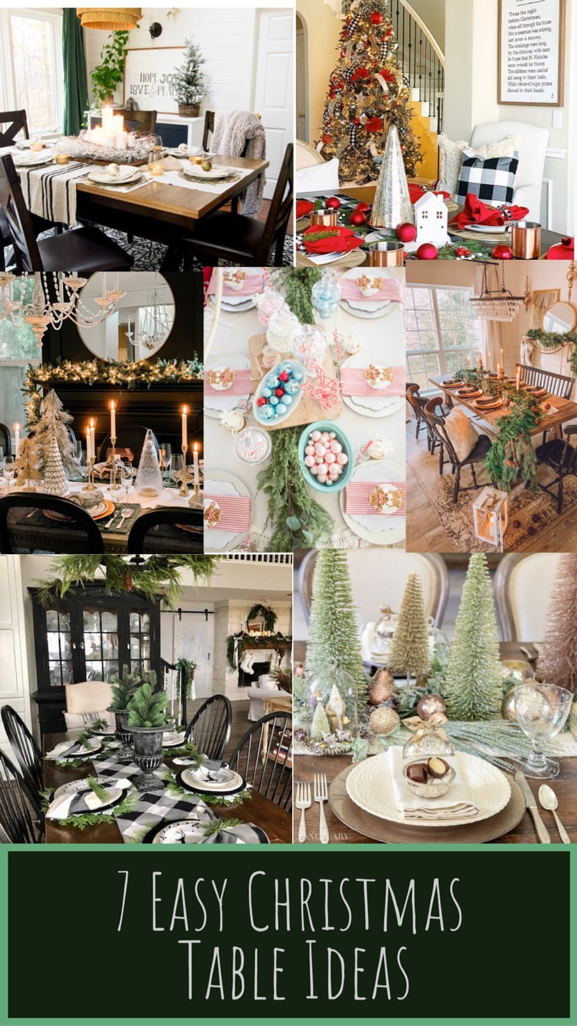 7 Easy Christmas Table Ideas