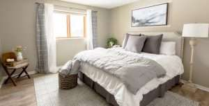 Use a soft color palette to lay the foundation for a soothing guest bedroom! See how to combine colors to create an inviting and relaxing space for guests.