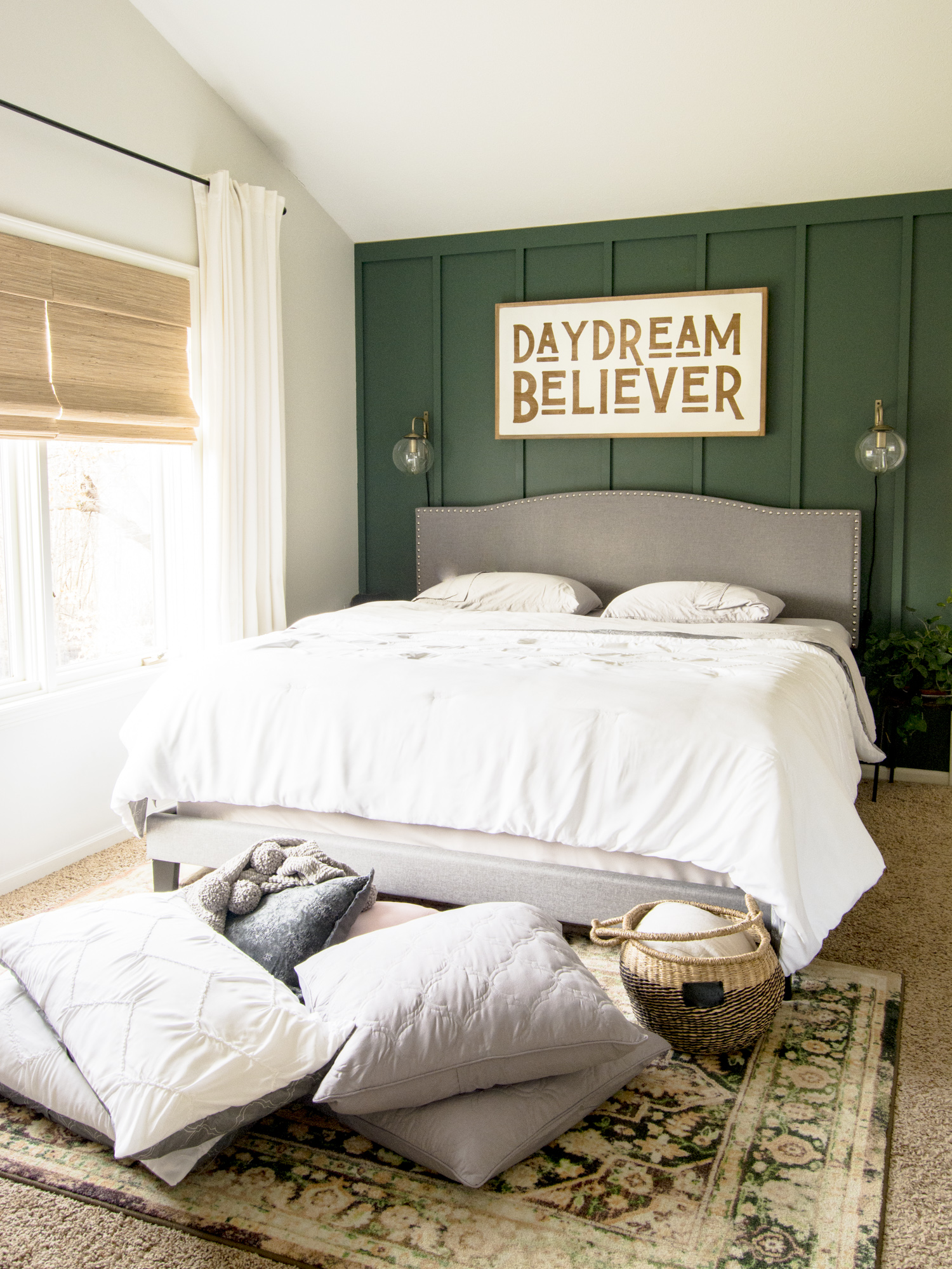 Modern farmhouse bedding.