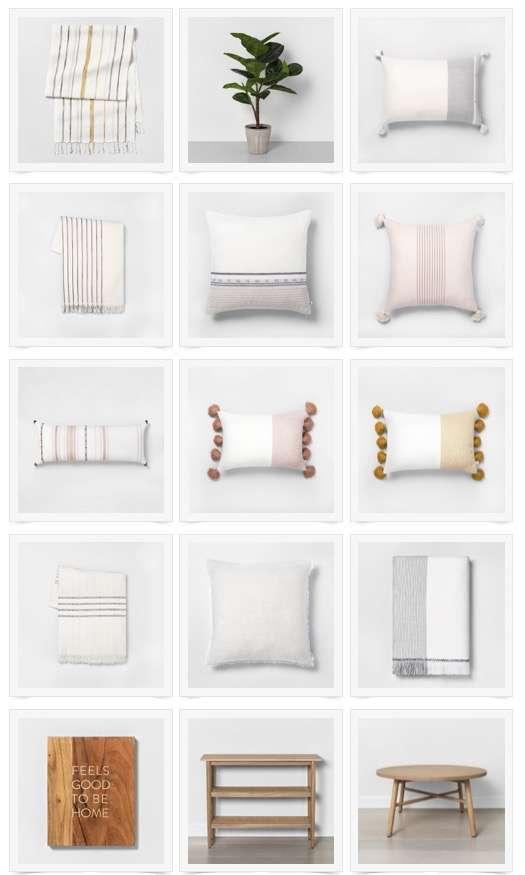 Modern farmhouse pillows.