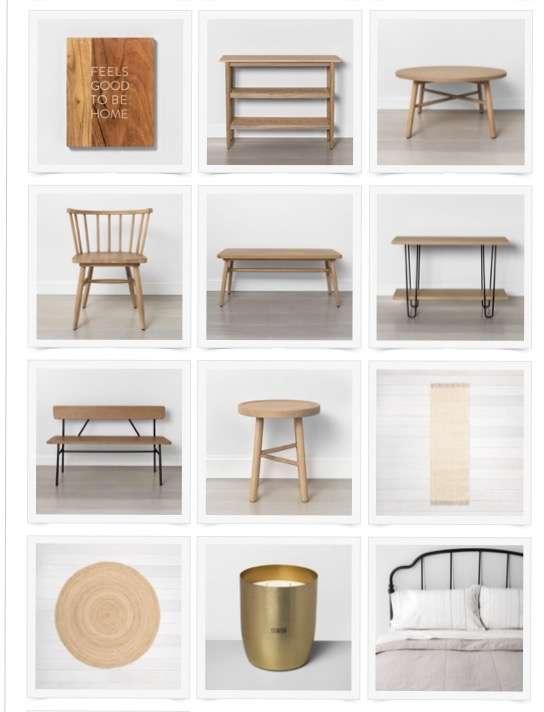 Modern farmhouse furniture line.