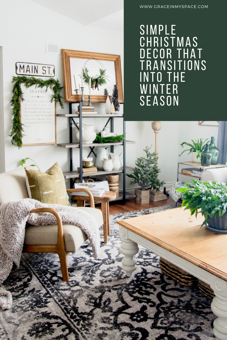 I'm excited for another tour of holiday homes! Enjoy some tips for how to create simple Christmas decor that easily transitions into the winter season.