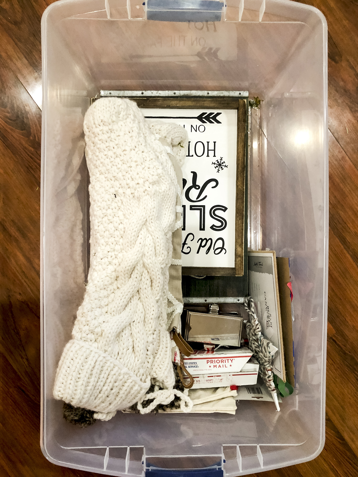 Christmas storage ideas.