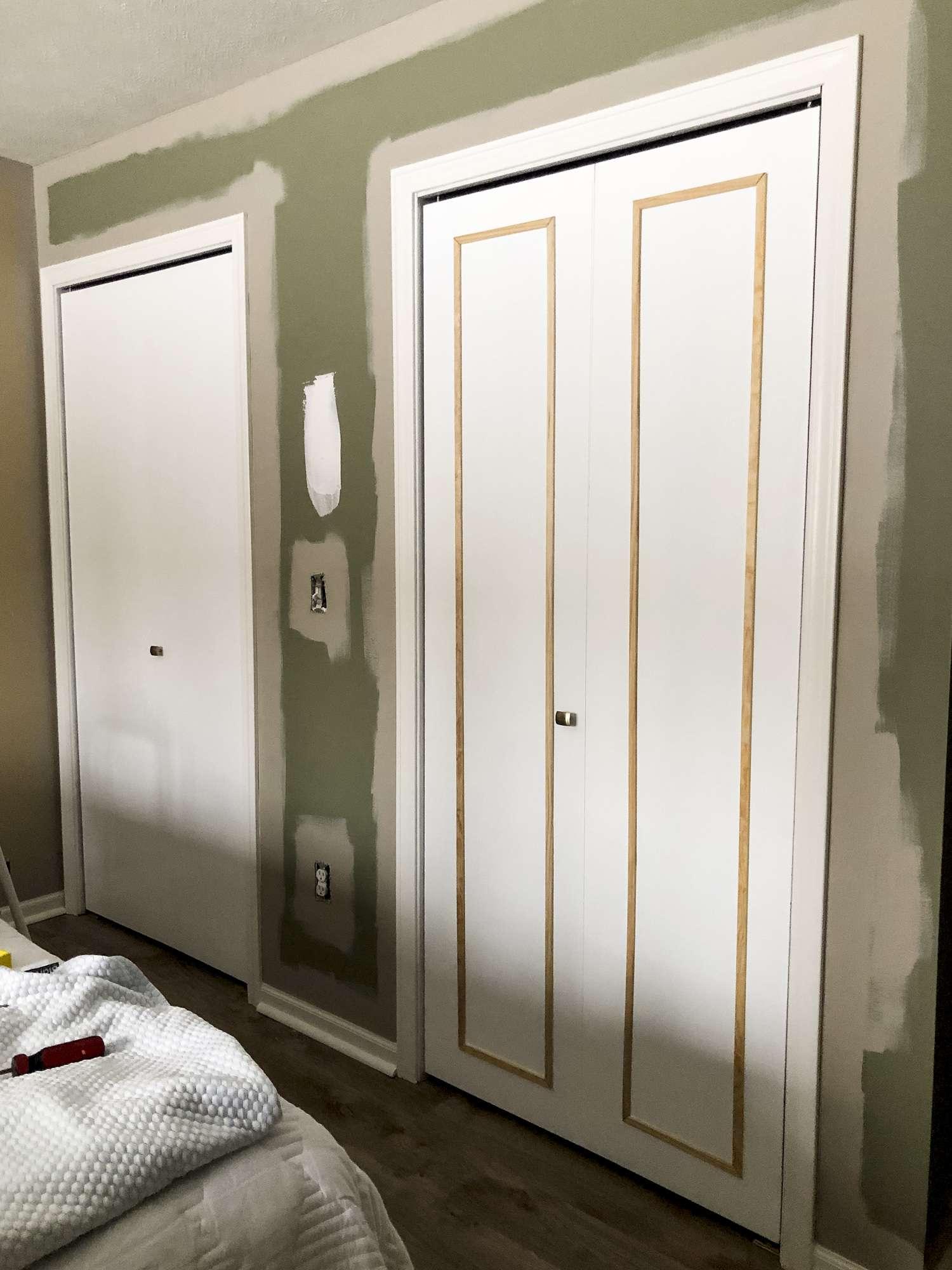 Bi-fold closet door makeover.