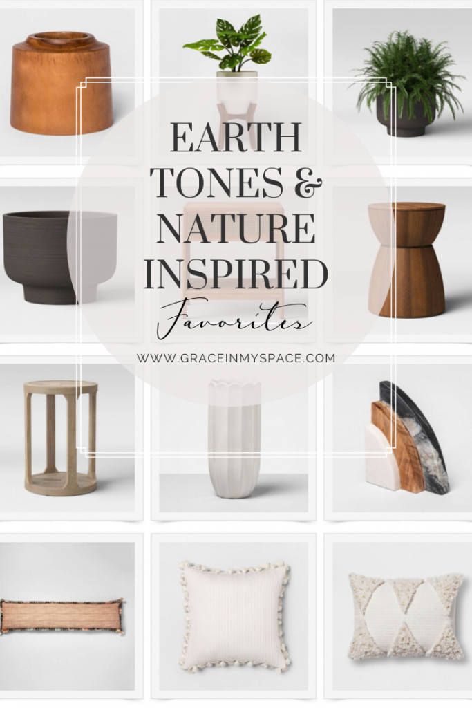 Earth tones are huge this year! I've rounded up tons of nature inspired home decor finds for an earthy color palette from my favorite affordable sources.