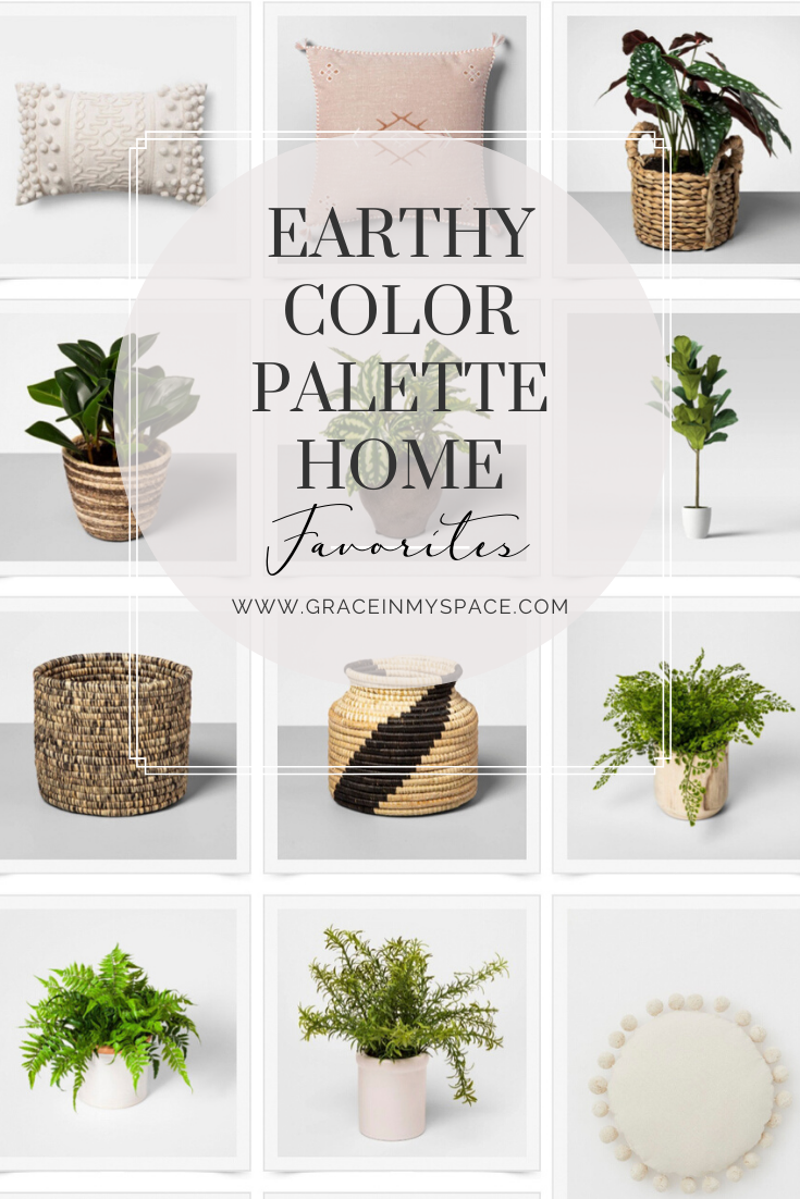 Faux plants for earth tone style decor.