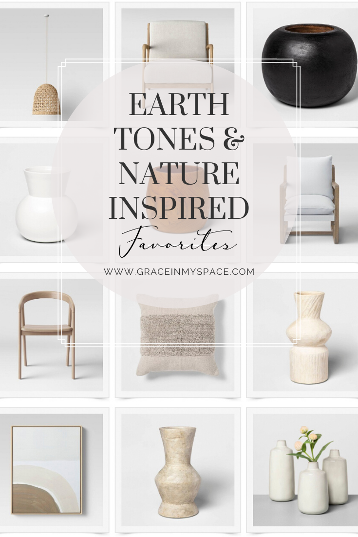 Earth Tones & Nature Inspired Home Decor   Grace In My Space