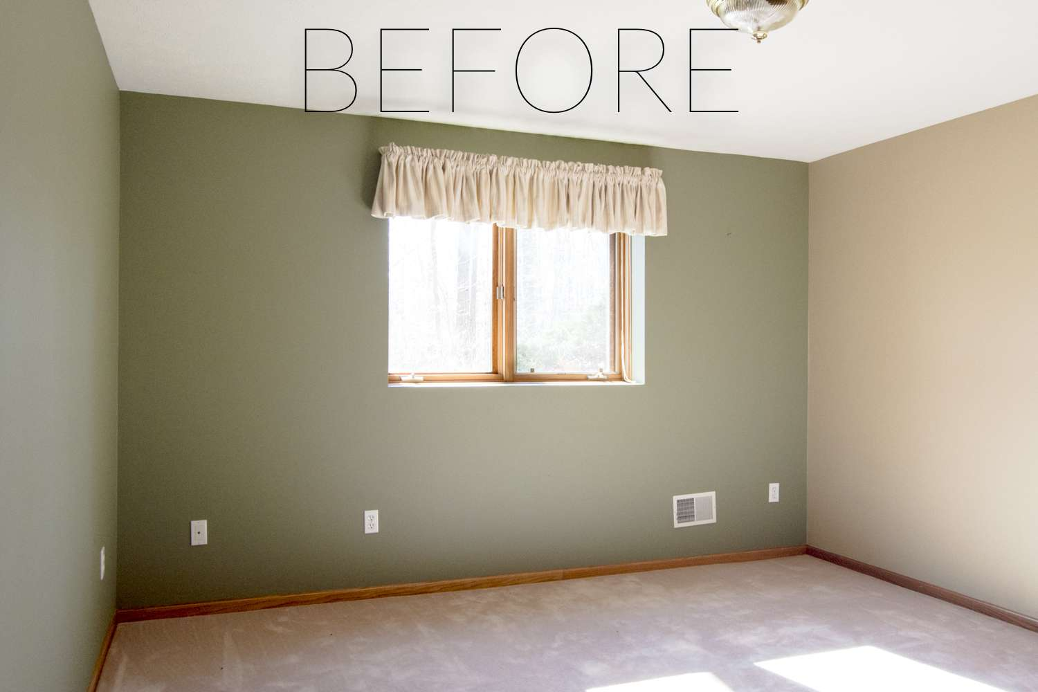 Before photo of a guest bedroom makeover.