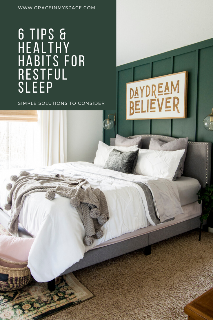 Restful sleep alludes so many in our fast paced society! Here are simple tips and healthy habits to help you achieve restful sleep this year.