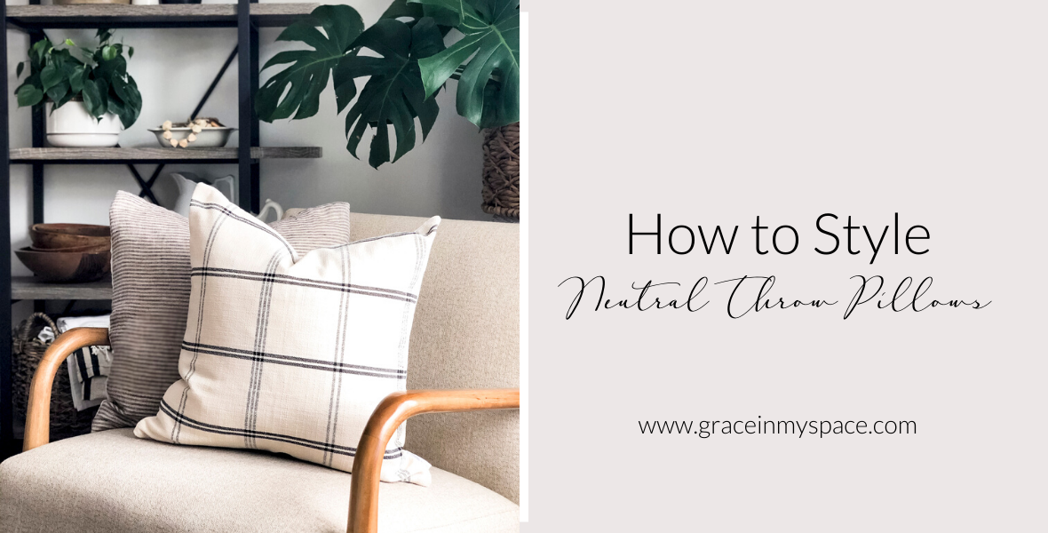 Have you ever wondered the trick to getting perfectly styled throw pillows? Learn how to style neutral throw pillows for timeless appeal.