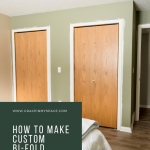 Do you have plain, flat panel bi-fold closet doors you want to update? Learn how to make custom bifold closet doors with this simple tutorial.