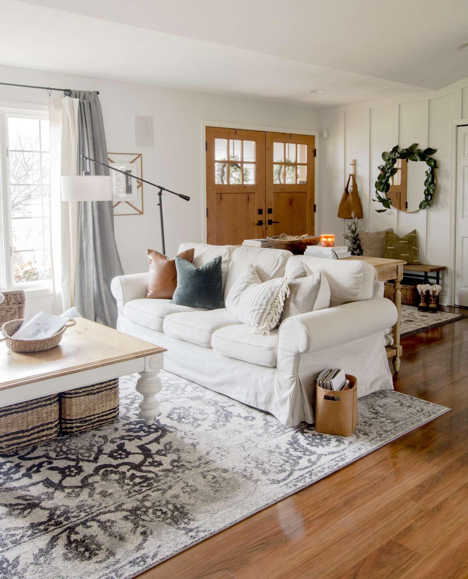 Cozy home furniture pieces.