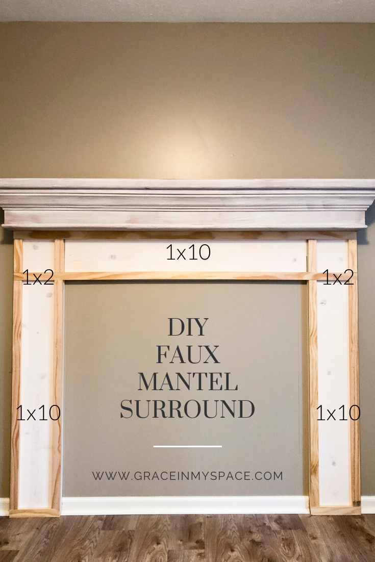 DIY Faux Fireplace Mantel Plans
