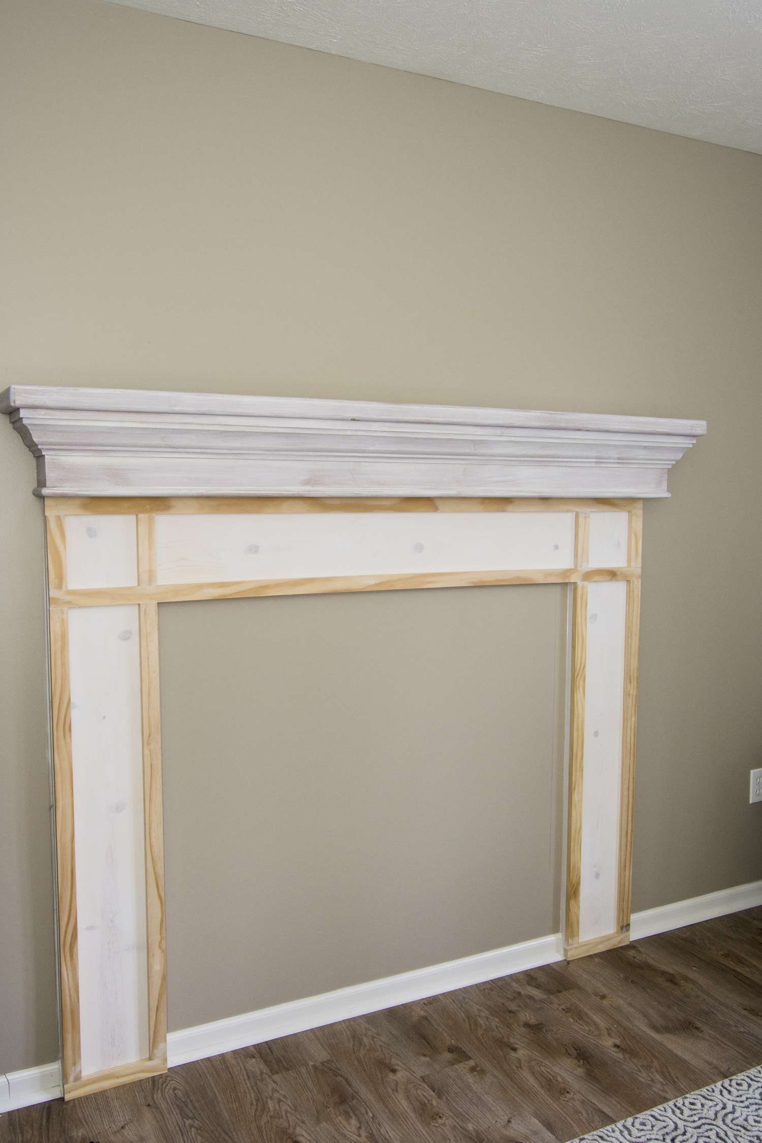 DIY Mantel progress