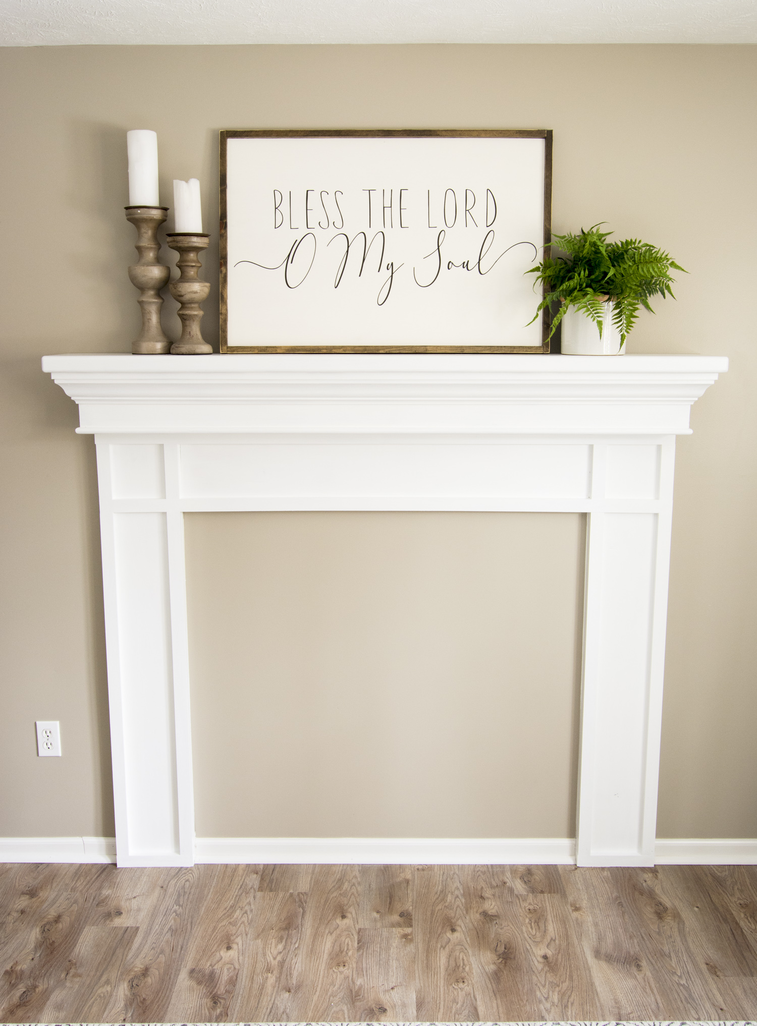 DIY Fireplace mantel plans
