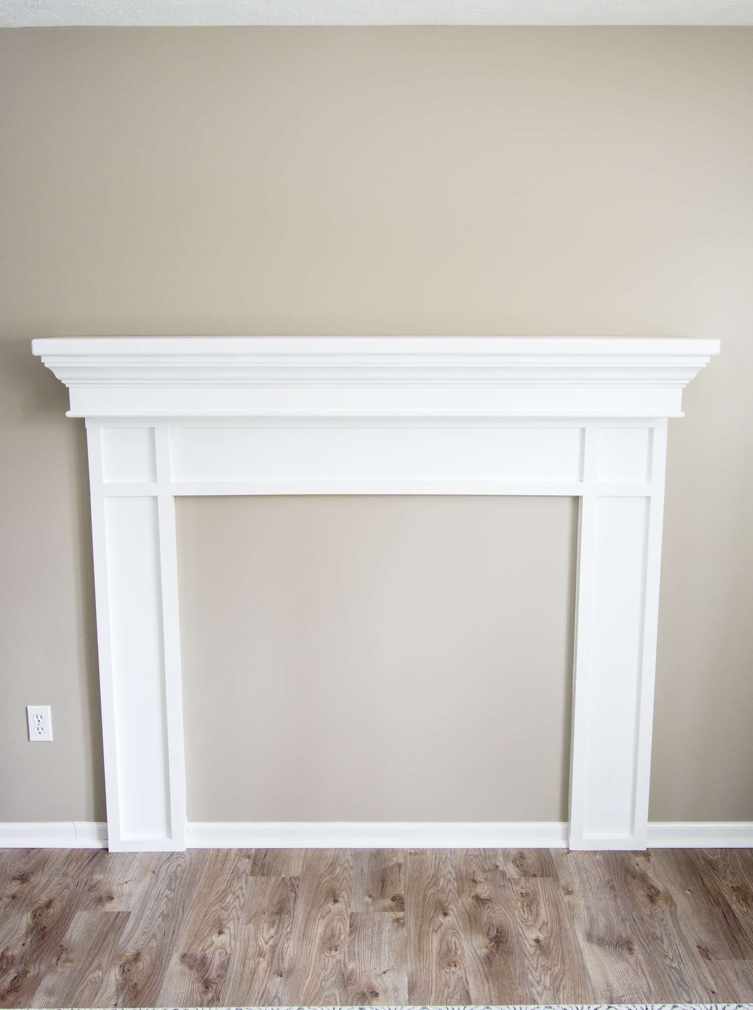 Diy Faux Fireplace Mantel Tutorial Grace In My Space