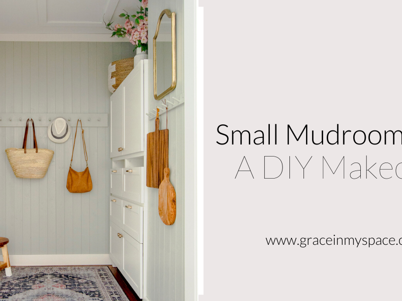 Small Mudroom Ideas | A DIY Mudroom Makeover