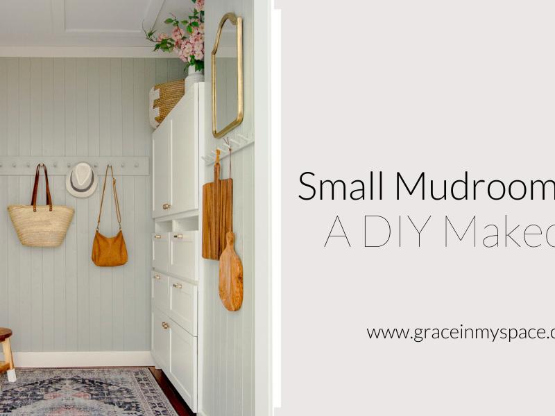Small Mudroom Ideas | A DIY Mudroom Makeover