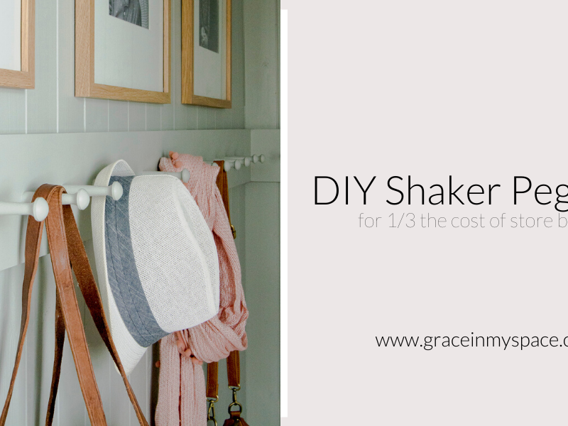 How to Make a Wooden Peg Rack with Shaker Pegs