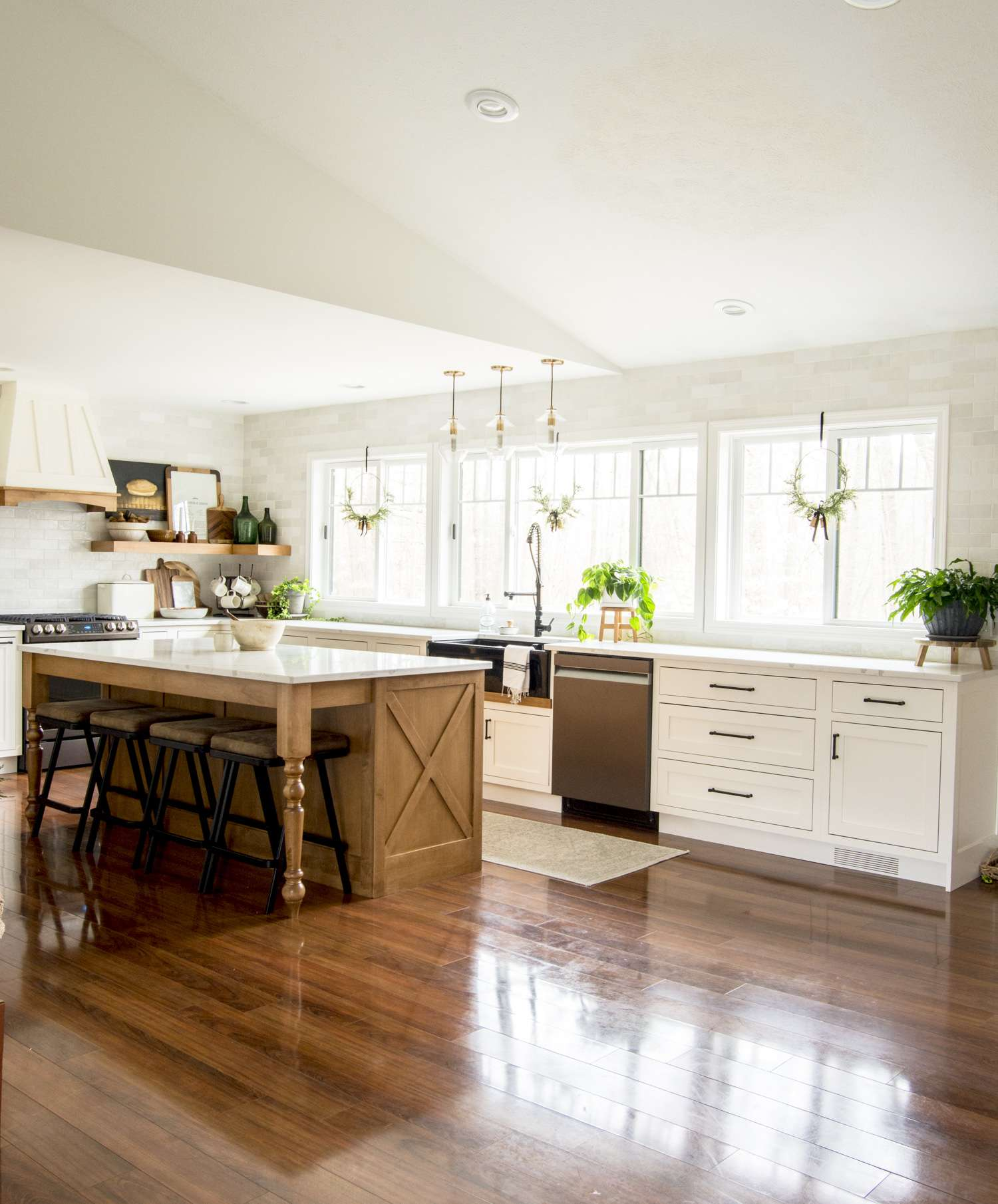Remodeling a modern farmhouse kitchen is rewarding! In addition to increasing your home value, it's also a haven making project. Answering FAQs of my custom kitchen remodel.