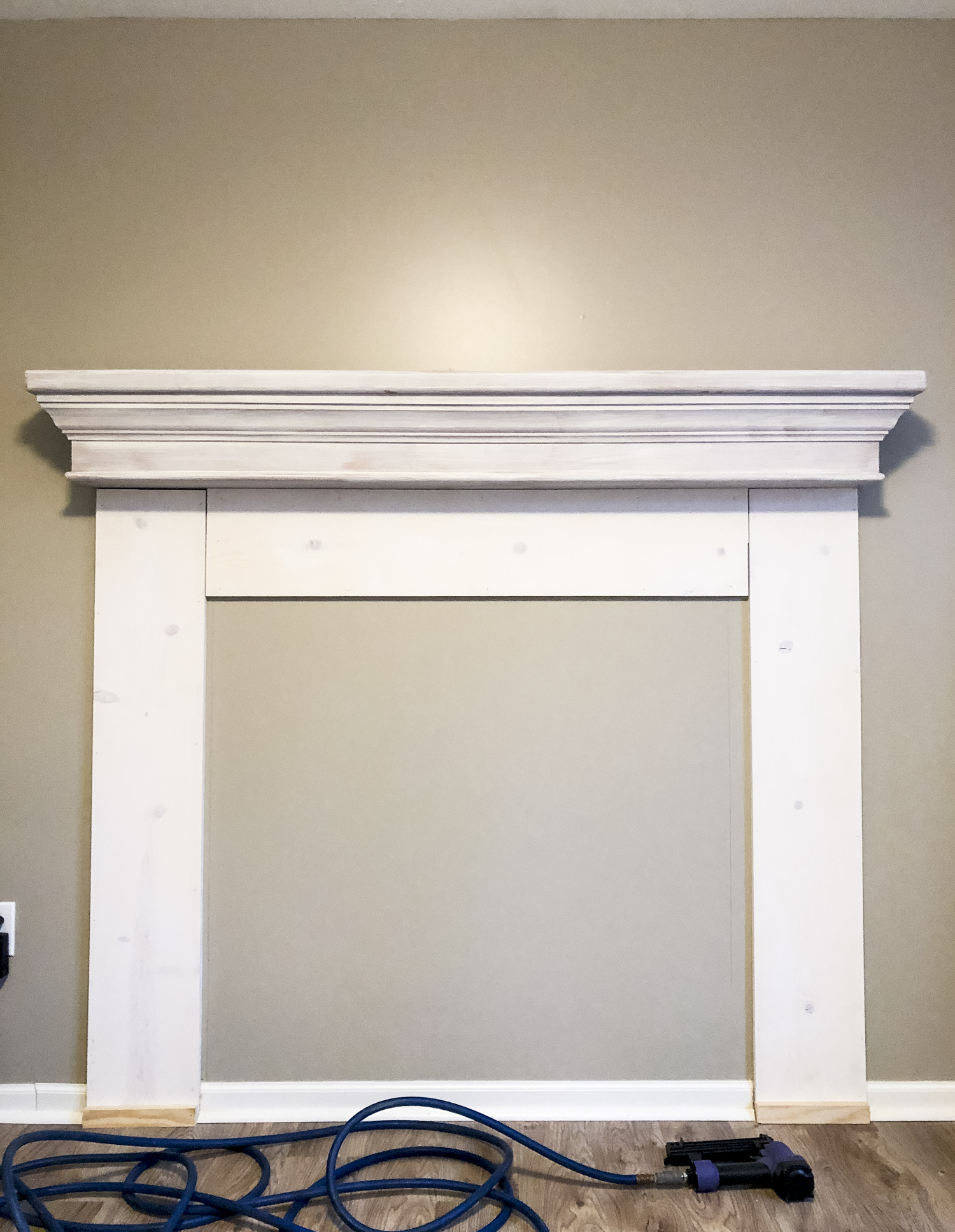 DIY Mantel surround