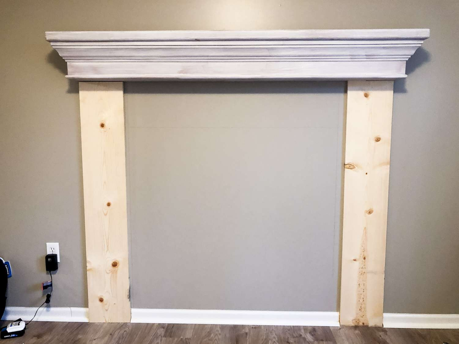 How to build a faux fireplace.