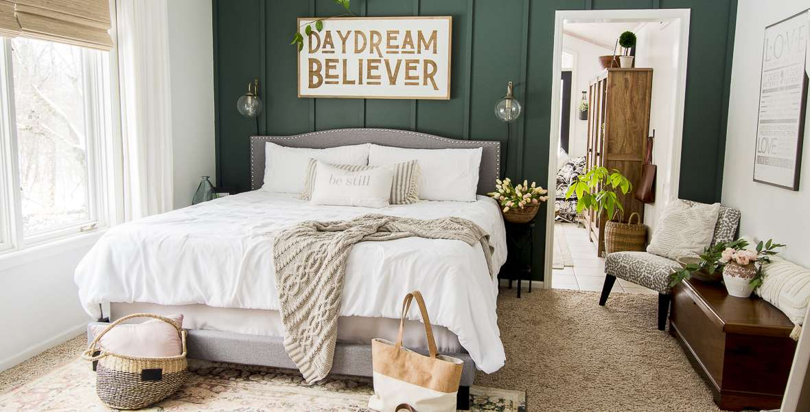 Spring decor is often over-complicated when it comes to the bedroom. Learn how to use a simple pop of color to liven up your spring bedroom design!