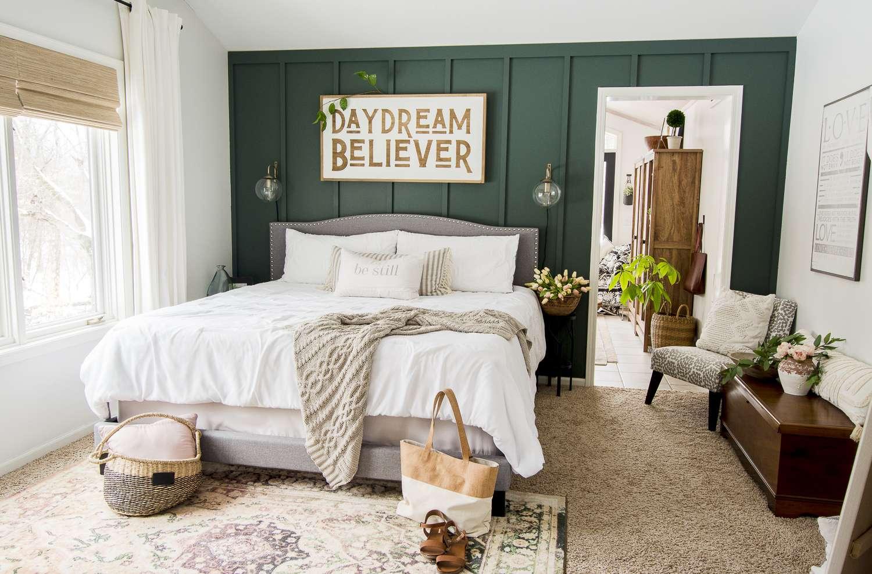 Spring bedroom design.