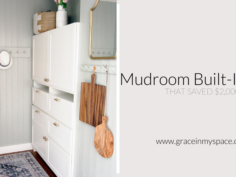 Mudroom Built-In Ikea Hack that Saved 2,000 Dollars