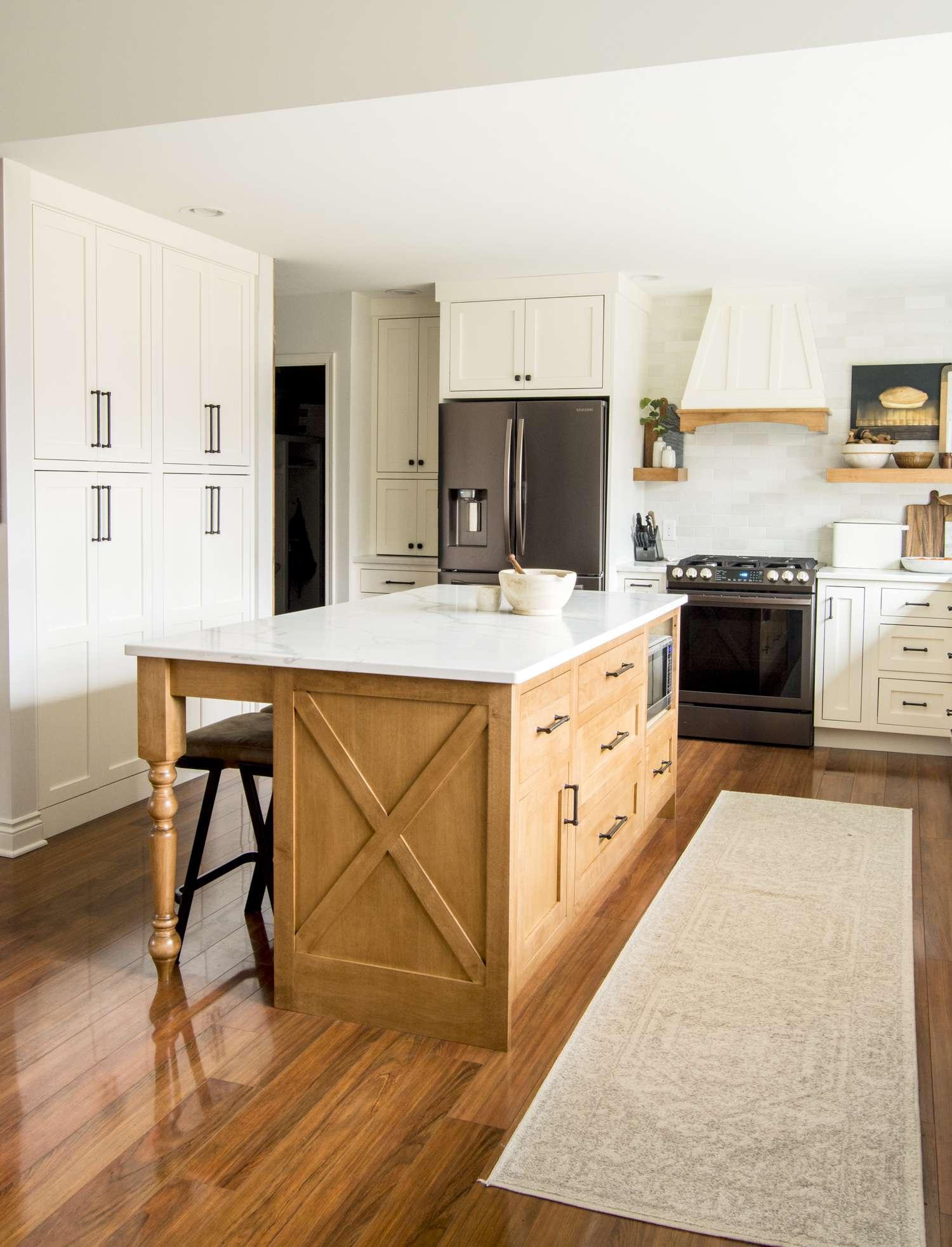 Custom kitchen island.