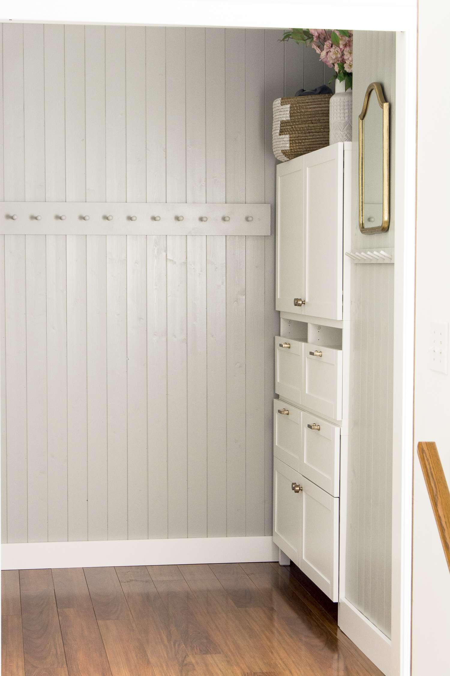 Small mudroom storage ideas.