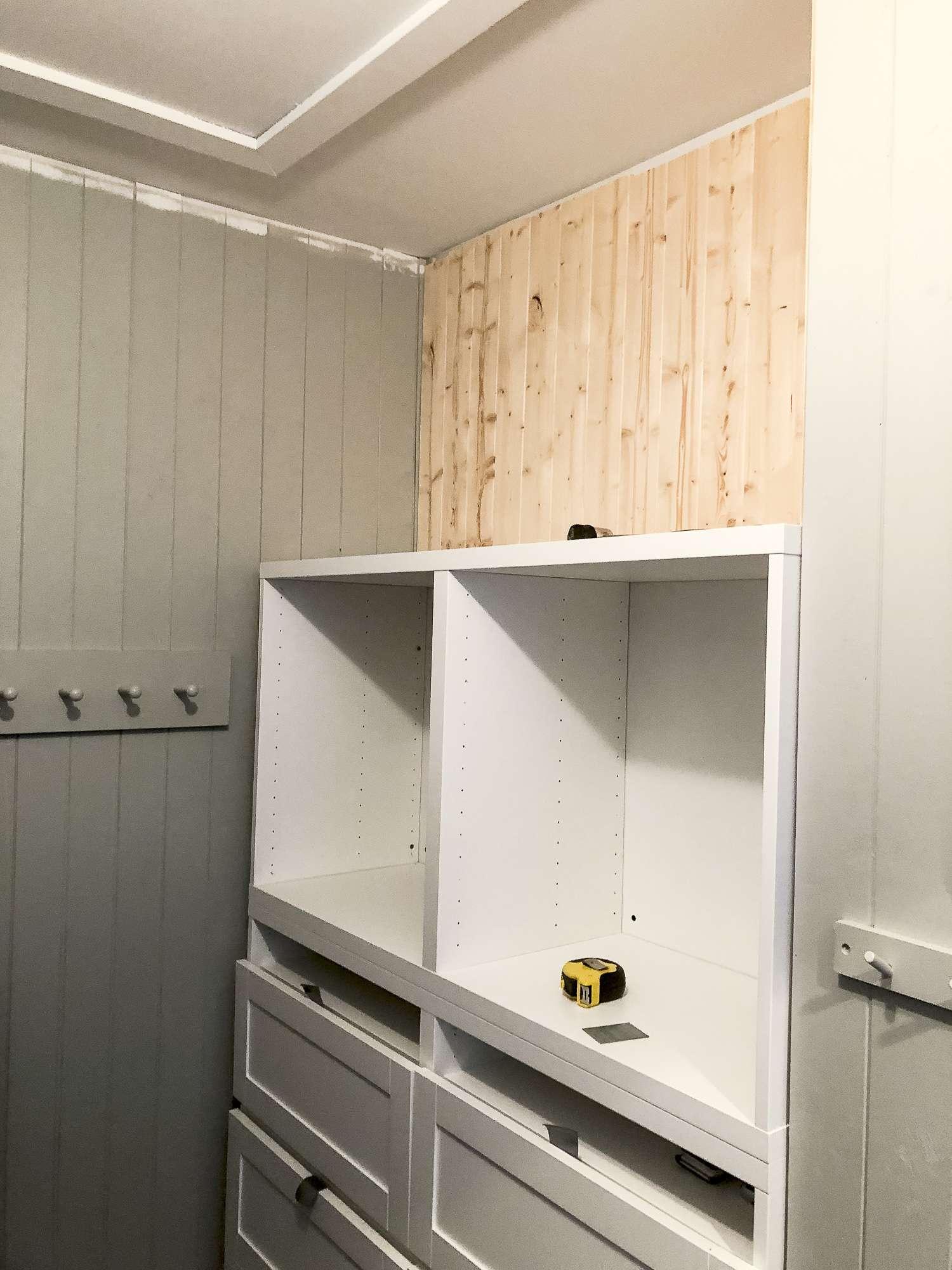 Mudroom built in storage.