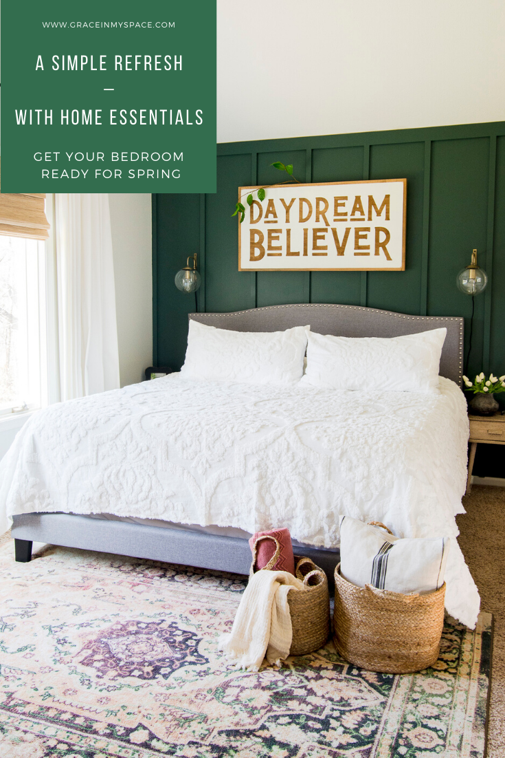 A Simple Spring Refresh with Bedroom Home Essentials