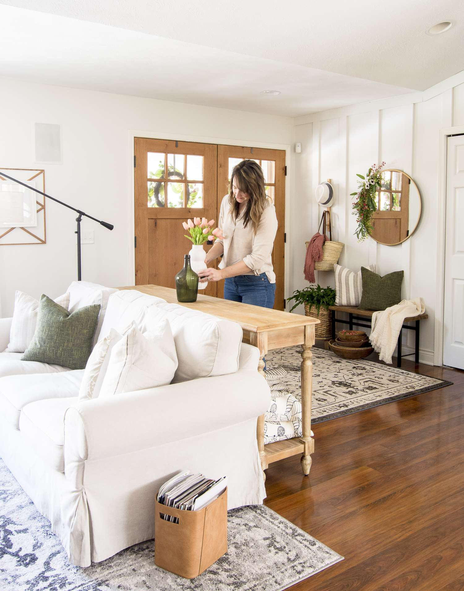Decorating on a budget by shopping your home.