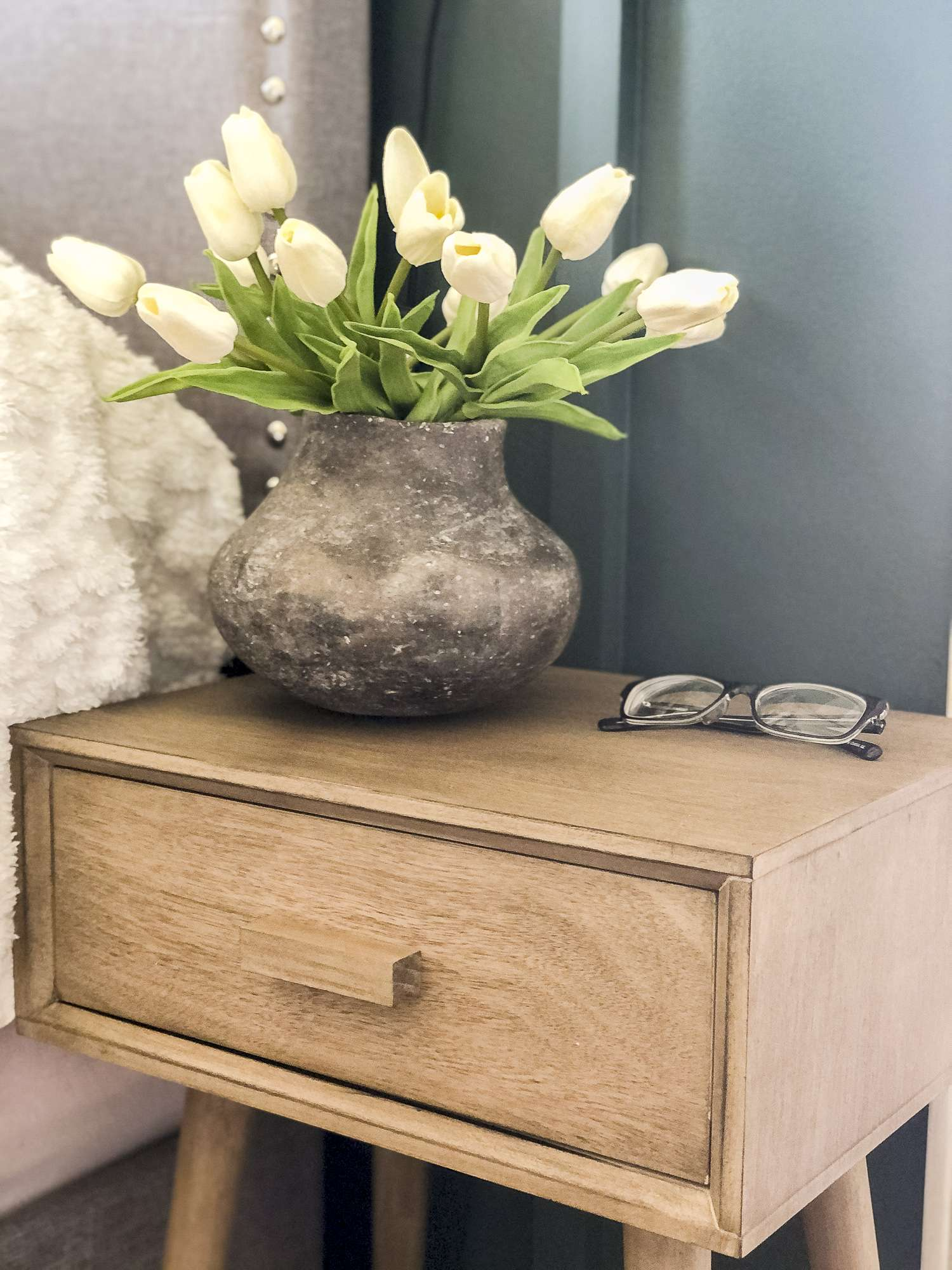 Modern farmhouse end table.
