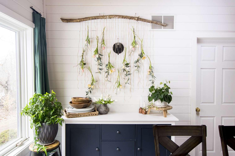 Flower wall art display ideas.