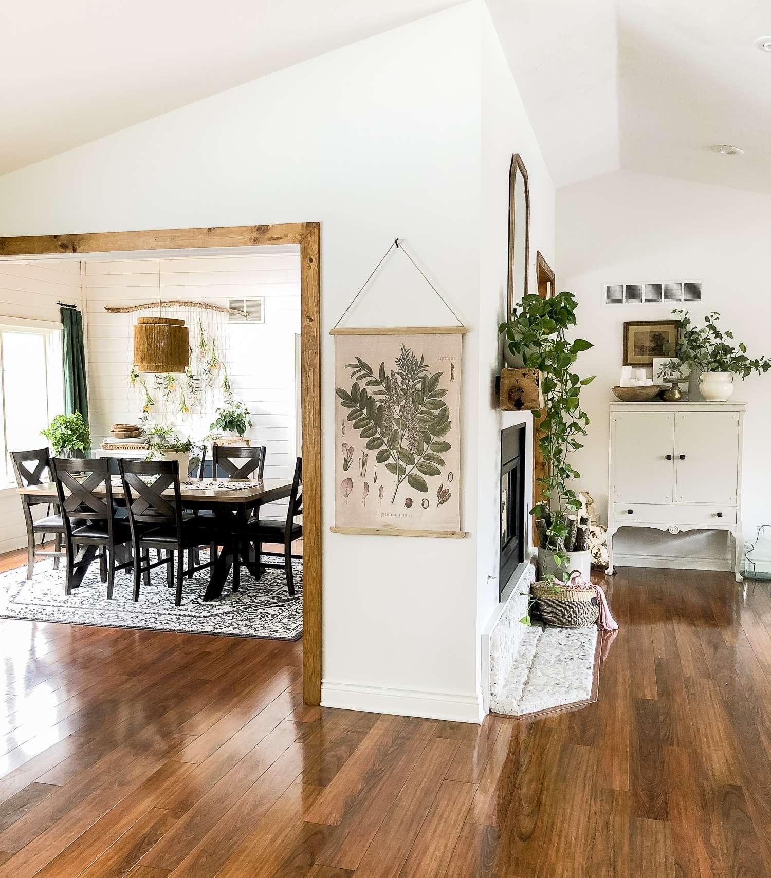 Modern farmhouse spring decor.