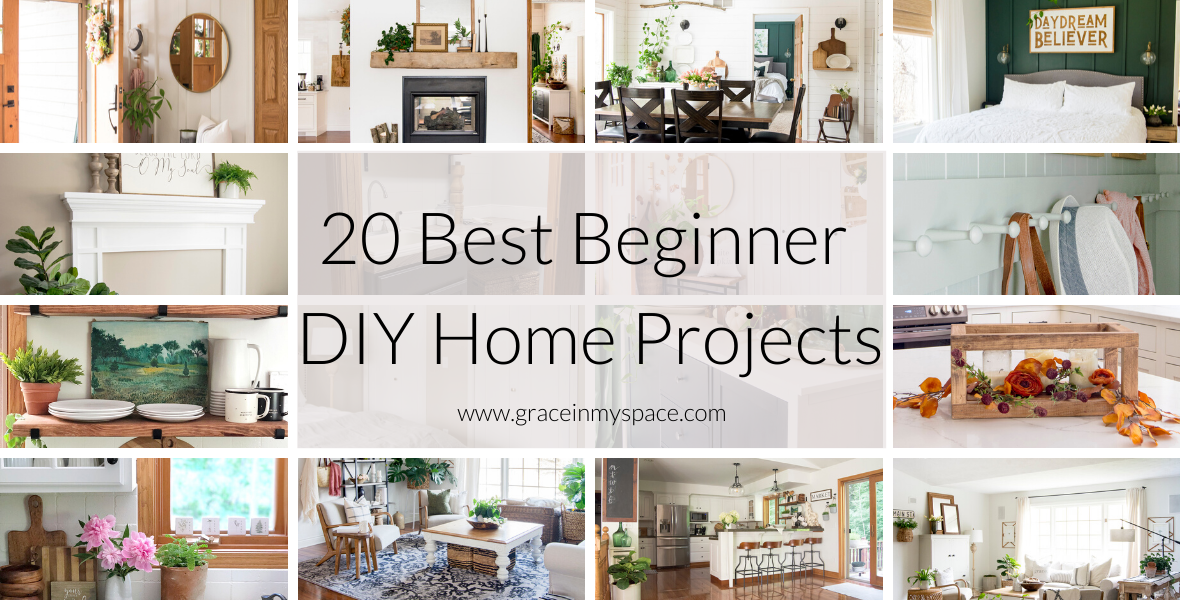 Updating your home into a haven is so rewarding! Here are 20 DIY home projects that even beginners can tackle with confidence. Tutorials included!