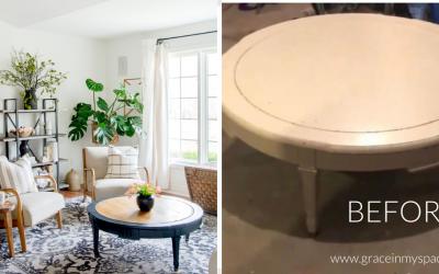 Coffee table repair and restoration